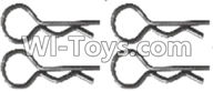 Wltoys A303 Parts-Clips,R-Clips R-shape Pin-1X22.2MM(4pcs)-K939-49,1/12 Wltoys A303 RC Car Spare Parts Replacement Accessories
