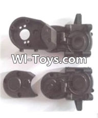 Wltoys A313 Parts-A303-06 Gearbox unit(Upper and bottom Gear box cover & Dust cover),1/12 Wltoys A313 RC Car Spare Parts Replacement Accessories