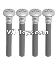Wltoys A313 Parts-upper half tooth screws(M3X36 PMO)-4PCS,1/12 Wltoys A313 RC Car Spare Parts Replacement Accessories