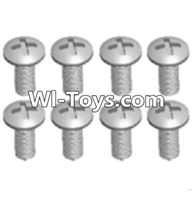 Wltoys A313 Parts-Round head machine screws(M2.5X10 PM D4)-8pcs,1/12 Wltoys A313 RC Car Spare Parts Replacement Accessories