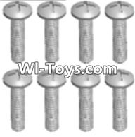 Wltoys A313 Parts-Round head tapping screw(M2.6X16 PB)-8pcs,1/12 Wltoys A313 RC Car Spare Parts Replacement Accessories