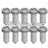 Wltoys A313 Parts-Cross recessed tapping round head Screws(M1.7X6 PB)-10PCS,1/12 Wltoys A313 RC Car Spare Parts Replacement Accessories