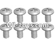 Wltoys A313 Parts-Cross recessed round head screws(M3X14 PM)-8pcs,1/12 Wltoys A313 RC Car Spare Parts Replacement Accessories