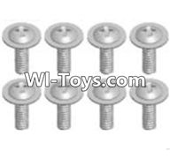 Wltoys A313 Parts-Cross recessed round head screwS(M2.6X6 PWB)-8pcs,1/12 Wltoys A313 RC Car Spare Parts Replacement Accessories