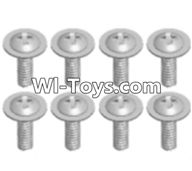 Wltoys A313 Parts-Round head screw with dielectric(M2.5X6X6)-8pcs,1/12 Wltoys A313 RC Car Spare Parts Replacement Accessories