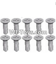 Wltoys A313 Parts-ScrewsL959-54 Countersunk head self tapping screw(M2.6X8)-10pcs,1/12 Wltoys A313 RC Car Spare Parts Replacement Accessories