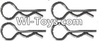 Wltoys A313 Parts-Clips,R-Clips,R-shape Pin- 1X22.2MM(4pcs)-K939-49,1/12 Wltoys A313 RC Car Spare Parts Replacement Accessories