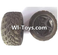 Wltoys A323 Parts-Rear wheel unit(2pcs),1/12 Wltoys A323 RC Car Spare Parts Replacement Accessories