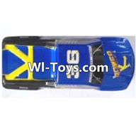 Wltoys A323 Parts-Car shell-Blue,1/12 Wltoys A323 RC Car Spare Parts Replacement Accessories