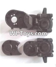 Wltoys A323 Parts-Gearbox unit(Upper and bottom Gear box cover & Dust cover)-A303-06 ,1/12 Wltoys A323 RC Car Spare Parts Replacement Accessories