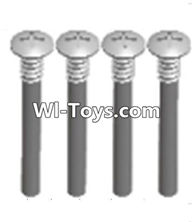 Wltoys A323 Parts-upper half tooth screws(M3X36 PMO)-4PCS,1/12 Wltoys A323 RC Car Spare Parts Replacement Accessories