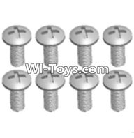 Wltoys A323 Parts-Round head machine screws(M2.5X10 PM D4)-8pcs,1/12 Wltoys A323 RC Car Spare Parts Replacement Accessories