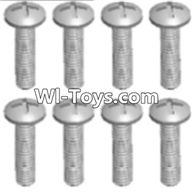 Wltoys A323 Parts-Round head tapping screw(M2.6X16 PB)-8pcs,1/12 Wltoys A323 RC Car Spare Parts Replacement Accessories