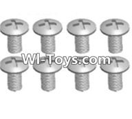 Wltoys A323 Parts-Cross recessed round head screws(M3X14 PM)-8pcs,1/12 Wltoys A323 RC Car Spare Parts Replacement Accessories