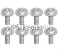 Wltoys A323 Parts-Cross recessed round head screwS(M2.6X6 PWB)-8pcs,1/12 Wltoys A323 RC Car Spare Parts Replacement Accessories