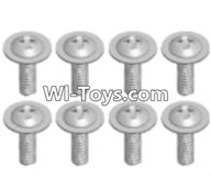 Wltoys A323 Parts-Round head screw with dielectric(M2.5X6X6)-8pcs,1/12 Wltoys A323 RC Car Spare Parts Replacement Accessories