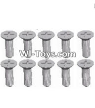 Wltoys A323 Parts-Countersunk head self tapping screw(M2.6X8)-10pcs-L959-54,1/12 Wltoys A323 RC Car Spare Parts Replacement Accessories