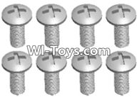 Wltoys A323 Parts-Round head self tapping screw(M2.6X8)-10pcs-L959-57,1/12 Wltoys A323 RC Car Spare Parts Replacement Accessories