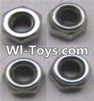 Wltoys A323 Parts-Locknut set(4pcs)-L959-65,1/12 Wltoys A323 RC Car Spare Parts Replacement Accessories