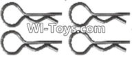 Wltoys A323 Parts-Clips,R-Clips for the Body shell,R-shape Pin-1X22.2MM(4pcs)-K939-49,1/12 Wltoys A323 RC Car Spare Parts Replacement Accessories