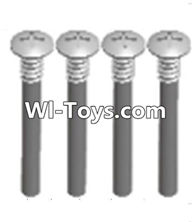 Wltoys A333 Parts-upper half tooth screws(M3X36 PMO)-4PCS,1/12 Wltoys A333 RC Car Spare Parts Replacement Accessories