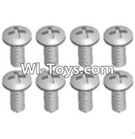 Wltoys A333 Parts-Round head machine screws(M2.5X10 PM D4)-8pcs,1/12 Wltoys A333 RC Car Spare Parts Replacement Accessories