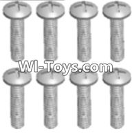 Wltoys A333 Parts-Round head tapping screw(M2.6X16 PB)-8pcs,1/12 Wltoys A333 RC Car Spare Parts Replacement Accessories