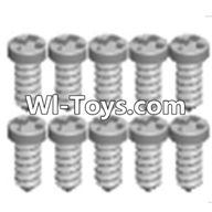 Wltoys A333 Parts-Cross recessed tapping round head Screws(M1.7X6 PB)-10PCS,1/12 Wltoys A333 RC Car Spare Parts Replacement Accessories