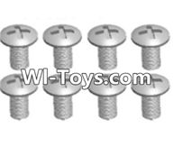 Wltoys A333 Parts-Cross recessed round head screws(M3X14 PM)-8pcs,1/12 Wltoys A333 RC Car Spare Parts Replacement Accessories