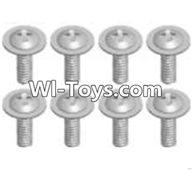 Wltoys A333 Parts-Cross recessed round head screwS(M2.6X6 PWB)-8pcs,1/12 Wltoys A333 RC Car Spare Parts Replacement Accessories