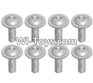 Wltoys A333 Parts-Round head screw with dielectric(M2.5X6X6)-8pcs,1/12 Wltoys A333 RC Car Spare Parts Replacement Accessories