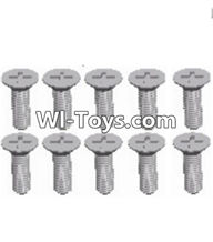 Wltoys A333 Screws Parts,Countersunk head self tapping screw(M2.6X8)-10pcs-L959-54,1/12 Wltoys A333 RC Car Spare Parts Replacement Accessories