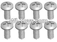 Wltoys A333 Screws Parts-Round head self tapping screw(M2.6X8)-10pcs-L959-57,1/12 Wltoys A333 RC Car Spare Parts Replacement Accessories