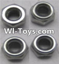 Wltoys A333 Locknut Parts-L959-65 Locknut set(4pcs),1/12 Wltoys A333 RC Car Spare Parts Replacement Accessories