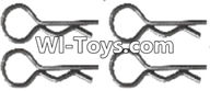 Wltoys A333 Parts-Clips,R-Clips for the Body Shell,R-shape Pin-1X22.2MM(4pcs)-K939-49,1/12 Wltoys A333 RC Car Spare Parts Replacement Accessories
