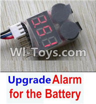 Wltoys A949 Parts-Upgrade Alarm for the Battery,Can test whether your battery has enouth power,Wltoys A949 RC Car Parts ,Wltoys 1/18 rc Truck and rc racing car Replace Parts