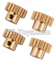 Wltoys A949 Parts-Copper motor Gear(4pcs)-0.7 Modulus,Wltoys A949 RC Car Parts ,Wltoys 1/18 rc Truck and rc racing car Replace Parts