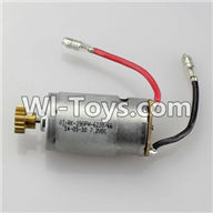 Wltoys A949 Parts-Main brush motor with copper gear,Wltoys A949 RC Car Parts ,Wltoys 1/18 rc Truck and rc racing car Replace Parts