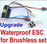 Wltoys A949 Parts-Upgrade waterproof ESC for the Brushless set,Wltoys A949 RC Car Parts ,Wltoys 1/18 rc Truck and rc racing car Replace Parts