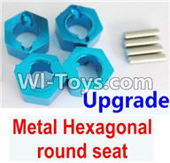 Wltoys A949 Parts-Upgrade Metal Hexagonal round seat(4pcs)(4pcs)-Blue,Wltoys A949 RC Car Parts ,Wltoys 1/18 rc Truck and rc racing car Replace Parts