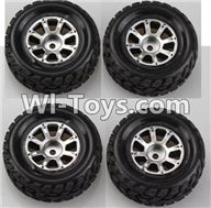 Wltoys A949 Parts-Wheel(2pcs Left and 2pcs Right Wheel),Wltoys A949 RC Car Parts ,Wltoys 1/18 rc Truck and rc racing car Replace Parts