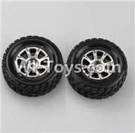 Wltoys A949 Parts-Right Wheel(2pcs),Wltoys A949 RC Car Parts ,Wltoys 1/18 rc Truck and rc racing car Replace Parts