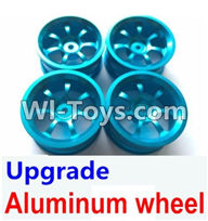 Wltoys A949 Parts-Upgrade Aluminum wheel(4pcs-Not include the Tire leather),Wltoys A949 RC Car Parts ,Wltoys 1/18 rc Truck and rc racing car Replace Parts