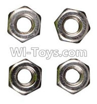Wltoys A949 Parts-M3 Anti-loose Screw nut(4pcs),Wltoys A949 RC Car Parts ,Wltoys 1/18 rc Truck and rc racing car Replace Parts