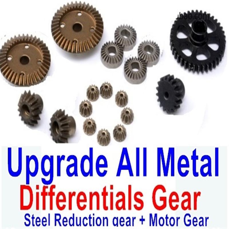 Wltoys A959B A959-B Upgrade Parts Upgrade All Metal Differentials Gear + Steel Reduction gear + Motor Gear(Only For A959B A959-B)