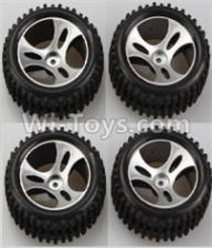 Wltoys A959B A959-B Parts Wheel-Official Wheel Parts(2pcs Left and 2pcs Right Wheel)