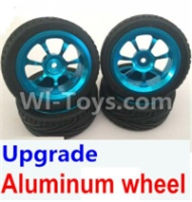 Wltoys A959B A959-B Upgrade Parts Upgrade Aluminum wheel(4pcs-Include the Tire leather,Also include the 7mm-to-12mm converter) Parts
