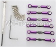 Wltoys A959B A959-B Upgrade Parts Upgrade Metal Connect buckle,Trolley(6pcs)-Purple Parts