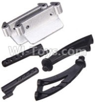 Wltoys A959B A959-B Parts Car shell bracket(2pcs) & Bull bars(2pcs) & Left and Right Spoiler bracket(Total 2pcs)