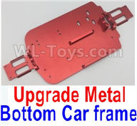 Wltoys A959B A959-B Upgrade Parts Upgrade Metal Bottom Car frame,Upgrade Metal Baseboard-Red